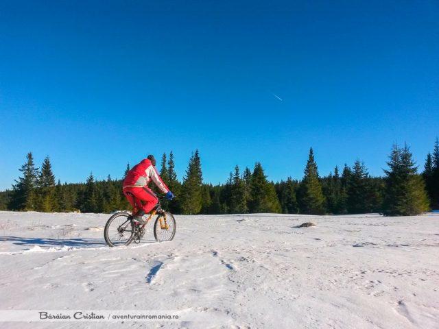 Cu bicicleta pe munte