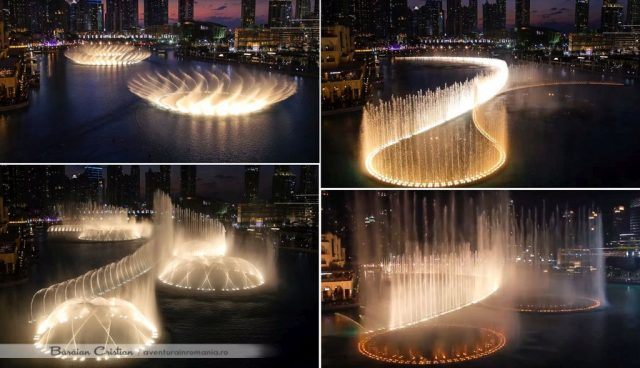 the dancing fountain Dubai