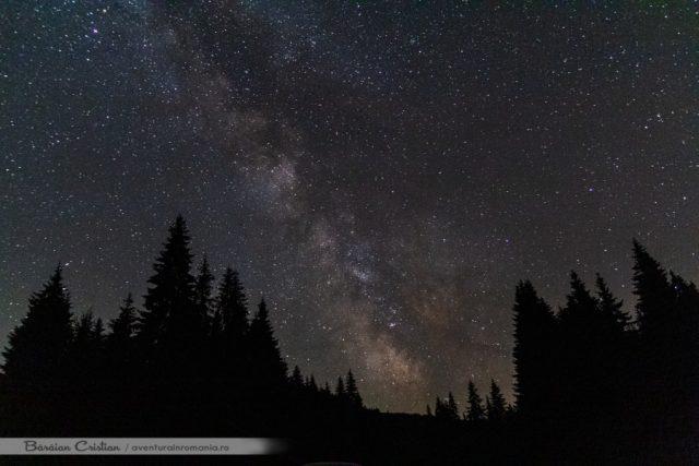 Galaxia vazuta in Retezat