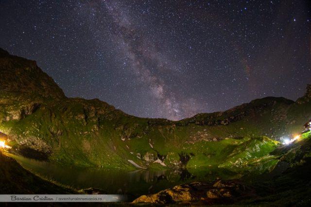 Noaptea la Balea Lac